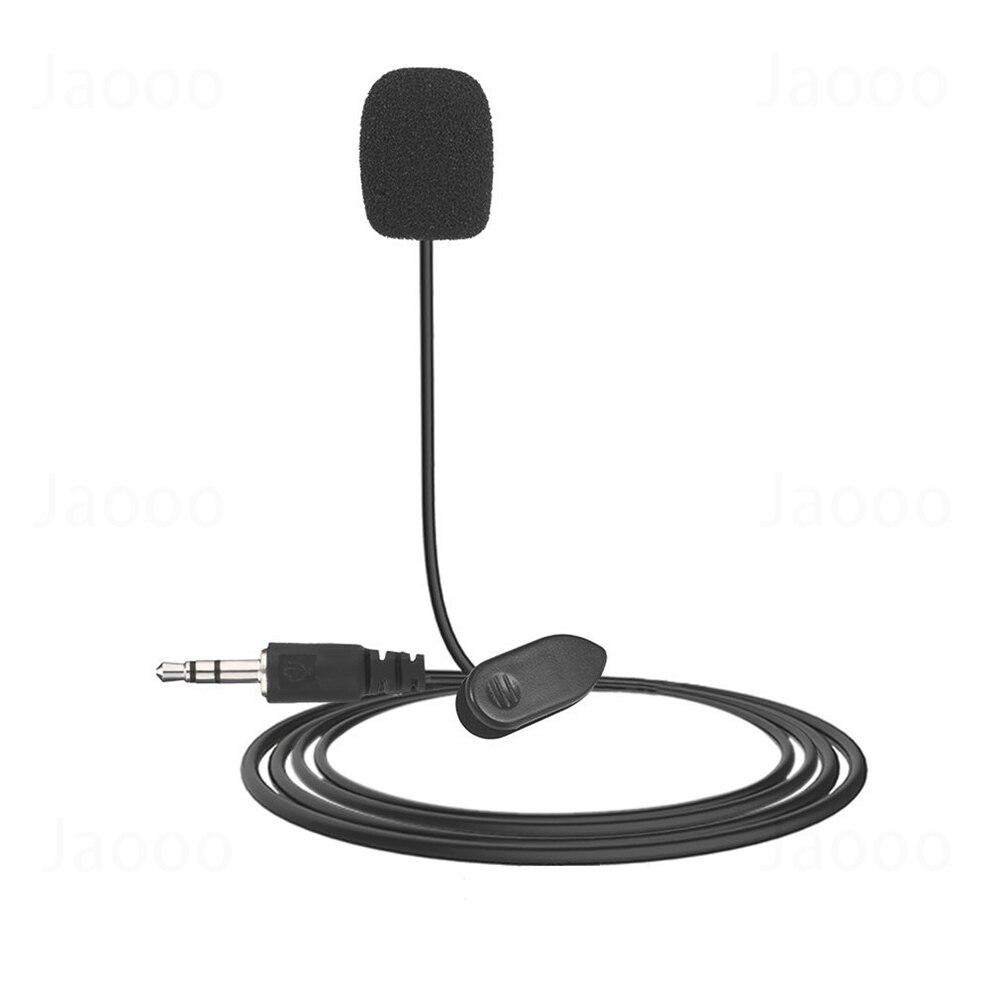 Петличный микрофон с креплением на лацкане, разъем 3,5 мм для iPhone, микрофон для разговора, пения, речи, смартфона, записи, ПК, зажим для галстук...