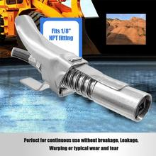 Heavy-Duty Quick Release Grease Gun Coupler onto Zerk Fittings 10,000 PSI 1/8 NPT  Self-Locking Two Press Easy to Push
