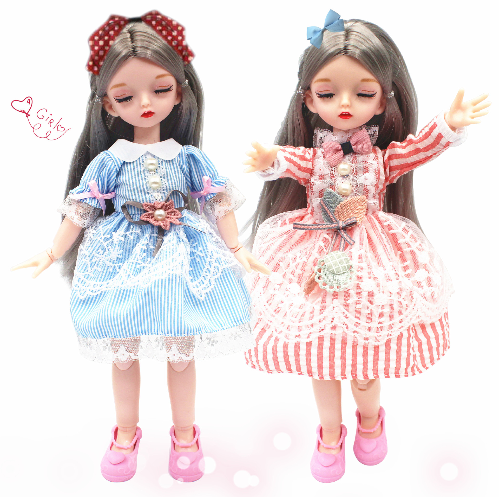 <font><b>BJD</b></font> Doll Accessories 12 Inch Doll Dress /Overalls for Sleep Series <font><b>Bjd</b></font> <font><b>1/6</b></font> <font><b>Clothes</b></font> Dress Up Dolls Toys for Children Girls image