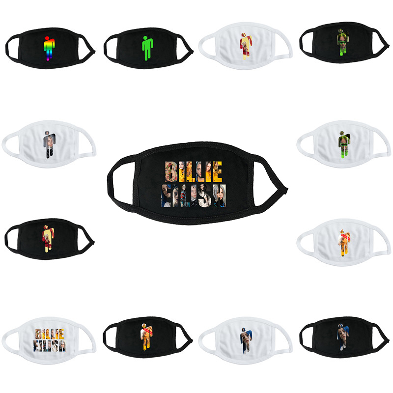 Billie Eilish Mouth Mask Fans Women Men Girls Cotton Cosplay Mask The Edition Cover New Album Activity Face Mask Masker