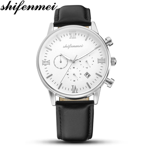 Image 4 - Shifemmei 超薄型男性のクォーツ時計ファッションビジネスセンタークォーツ時計誕生日ギフトバレンタインデーのギフト休日ギフト