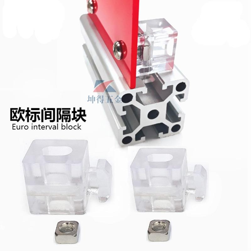 4PCS 2020 3030 4040 4545 Aluminium Spacer Block Intervall Verbindung Halterung Verschluss Spiel Verwendung Aluminium Profil