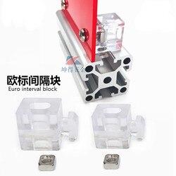 4PCS 2020 3030 4040 4545 Aluminum Spacer Block Interval Connection Bracket Fastener Match Use Aluminum Profile