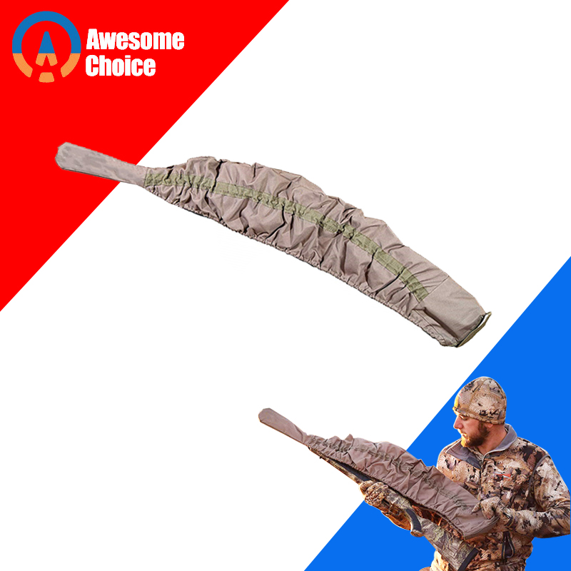 Esneklik tüfek örgü taktik silah çorap Polyester silikon tedavi tüfek koruyucu av tüfeği kılıfı depolama kol