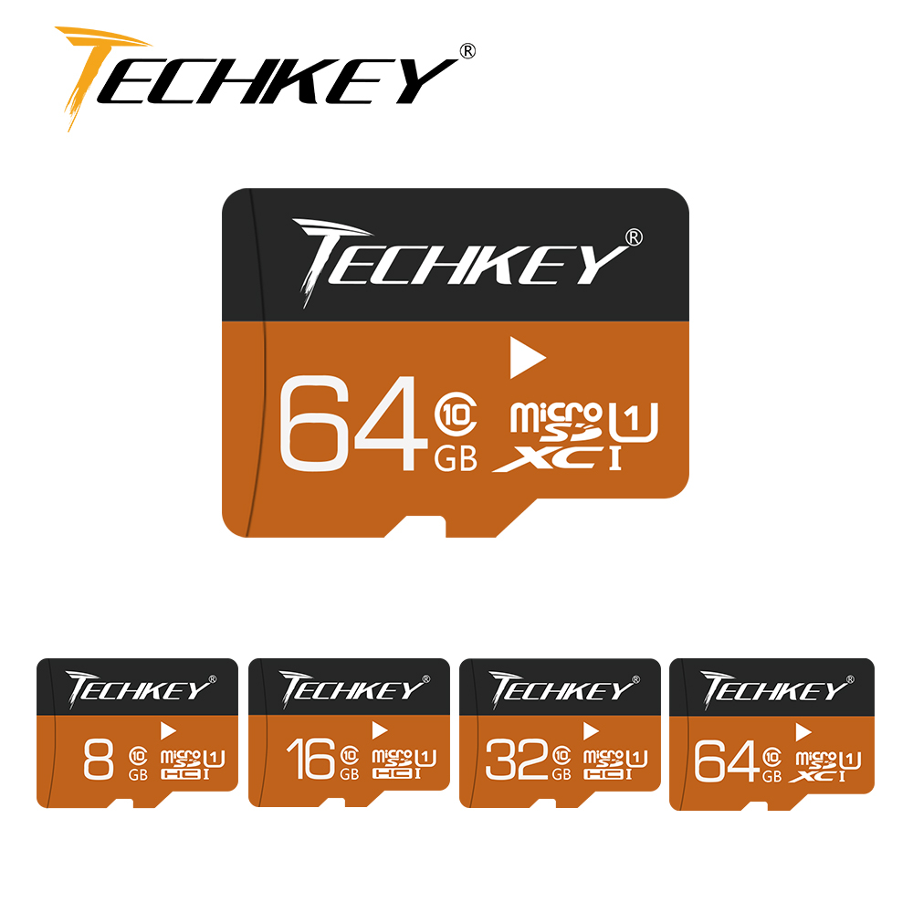 2018 new Memory card Techkey <font><b>32GB</b></font> 64GB 16GB 8GB 4GB <font><b>class10</b></font> pass h2test Microsd TF card 100%real capacity For SmartPhone/Camera image