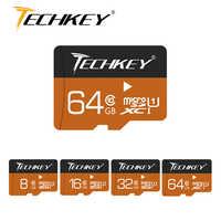 2018 nouvelle carte mémoire Techkey 32GB 64GB 16GB 8GB 4GB class10 pass h2test carte Microsd TF 100% capacité réelle pour SmartPhone/appareil photo