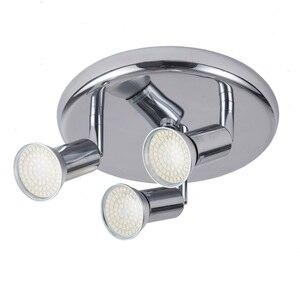 Image 5 - Lámpara Led giratoria montada en el techo, lámparas de araña LED ajustables para sala de estar, comedor, cocina, blanco y negro y plata