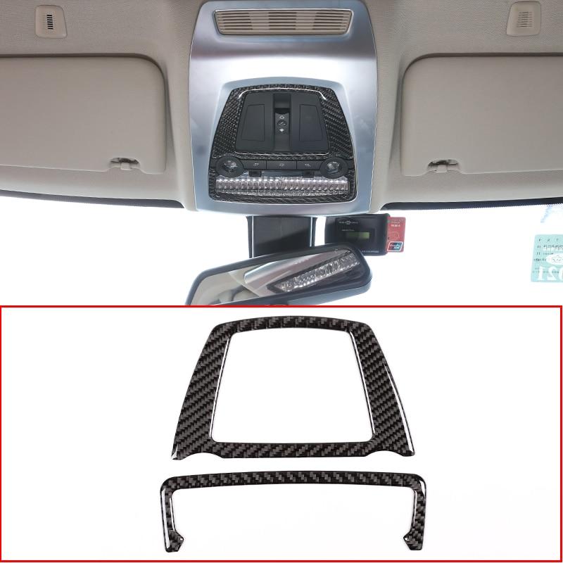 high quality 2 PCS Carbon Fiber Reading lamp panel TRIM FOR BMW 5 F10 2011-2017