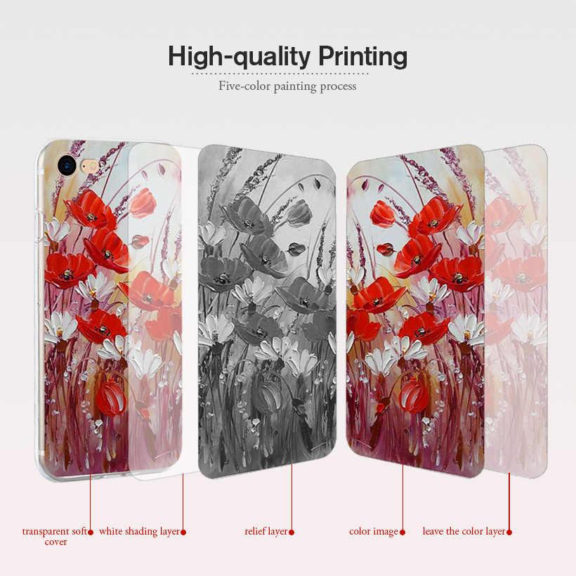 TPU Phone Case untuk Doogee Y8 Kasus Silikon Lembut Bunga Coque untuk Doogee N20 F5 Y8C Y6 X9 X70 X60L x30 X20 N10 Cover Kulit Funda