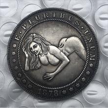 Moneda de Hobo americana para mujer, regalo de recuerdo