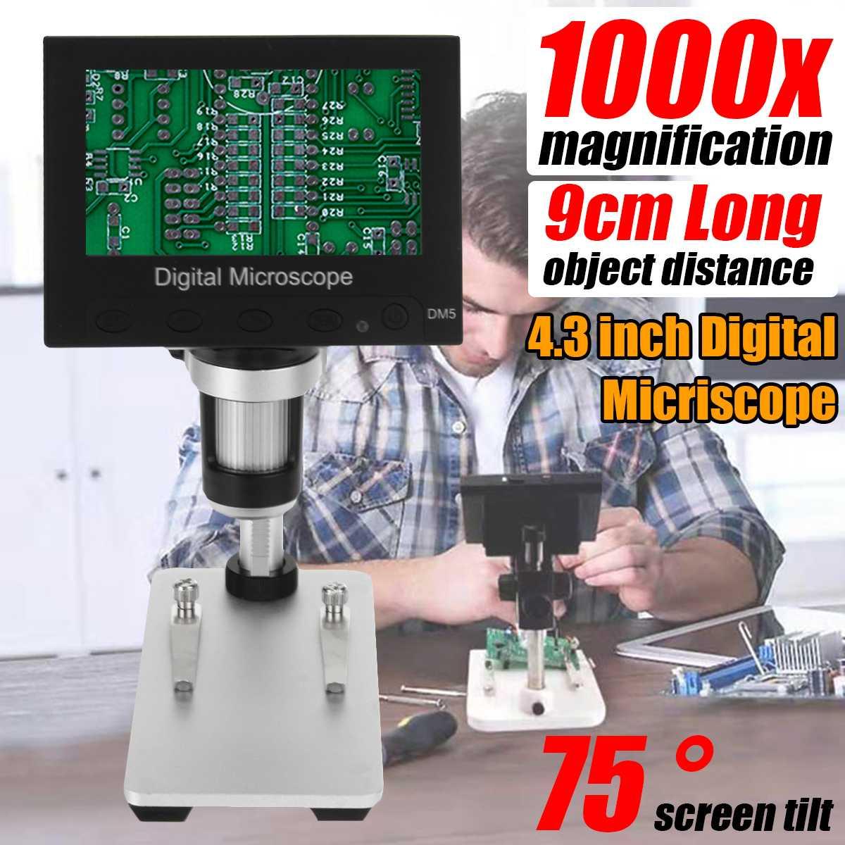 1000x 2.0MP USB Digital Electronic Microscope DM5 4.3