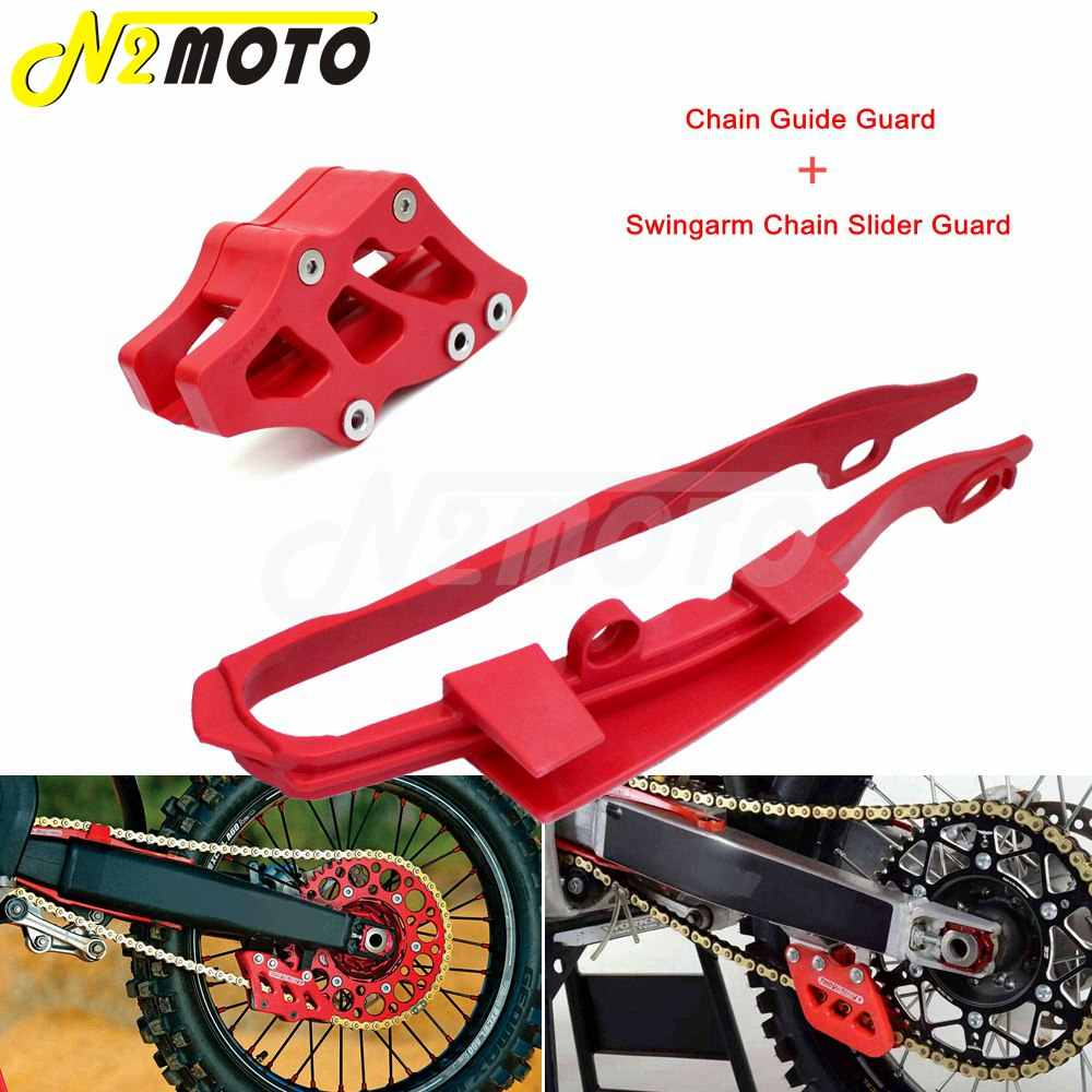 New UFO Chain Slider Front Swingarm Guard Red CRF250 CRF 250 10-13