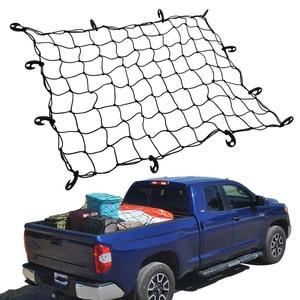 Image 1 - Universel voiture coffre bagages rangement Cargo organisateur filets 120x90cm élastique maille filet avec crochets Auto intérieur accessoires