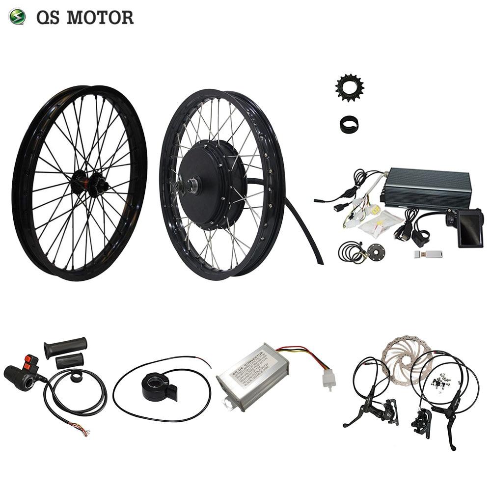 QS Motor 205 50H V3 Electric High Power Bicycle Kit / E Bike Kit / Spoke Hub Motor 3000W Powerful Hub Motor Kit