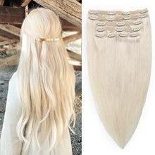 Быстрая доставка, большой запас, лучшее качество, 100% человеческие волосы Remy 100 г, включая 6 штук с зажимом на сетке для наращивания человеческ...