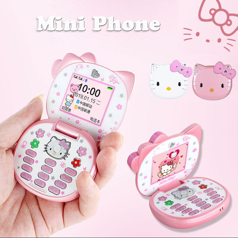 Kawaii Hello Kitty Flip Dual Sim Card CellPhone 1