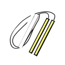 2x17 см стайлинга автомобилей COB светодиодные лампы 12V 6000K белый панель DRL COB светодиодный внутренний свет внешний атмосферная лампа дневного света