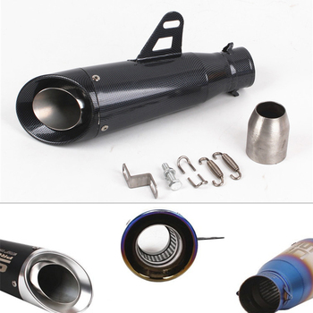 r1250gs Motorcycle accessories 51mm motocross exhaust sc racingproject Carbon fiber exhaust for r1 2007 sv 1000 cb400 sf zzr 400