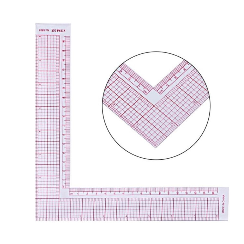 Multi-function Ruler DIY Plastic Sewing Square Curve Tailor Drawing Craft Tool