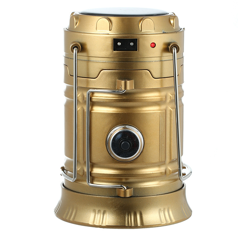 Multi-functional Camping Lantern Solar Charging Emergency Lamp Portable LED Hand Lights With Flashlight