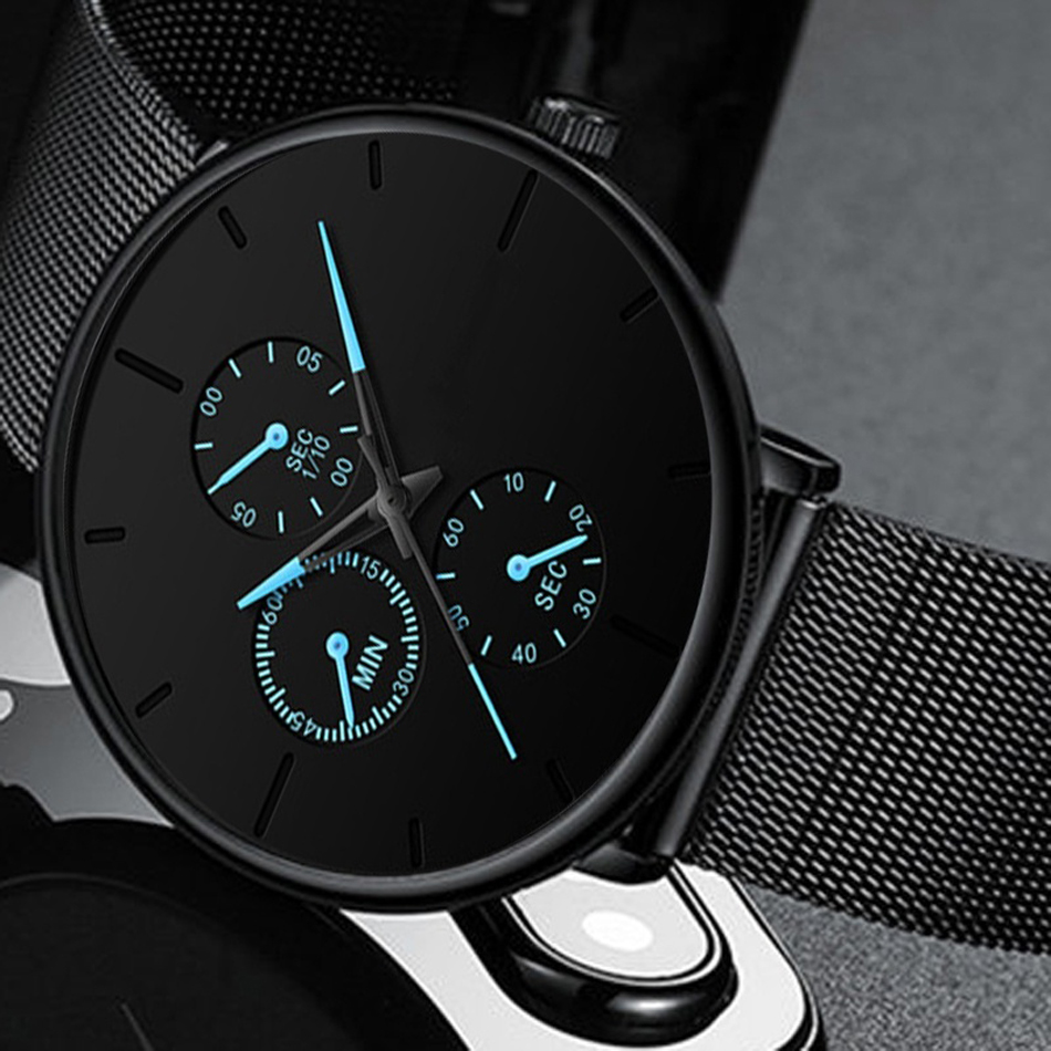 H3a94764dac614496b4acd12c9497a59ep Mens Watches Male Luminous Quartz Watch Casual Slim Mesh Steel Waterproof Sport Watch 2020 Gift Relogio Masculino kol saati