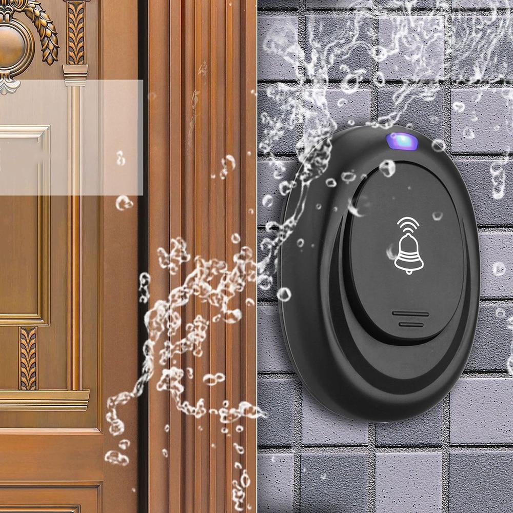New 36 Chord Tones Anti-nuisanc Wireless Waterproof Doorbell Button Receiver Waterproof Plug-in Visitor Reminder Doorbell EU