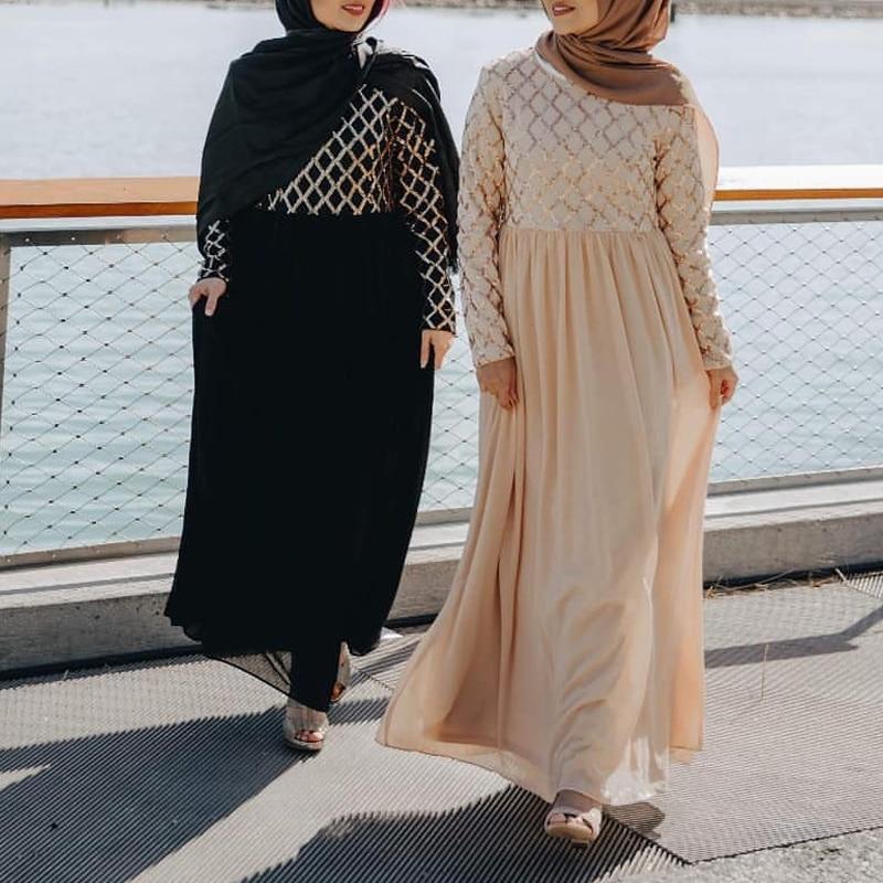 Sequin Abaya Dubai Turkish Hijab Muslim Dress Abayas For Women Dresses Robe Dubai Caftan Kaftan Islamic Clothing Tesettur Elbise