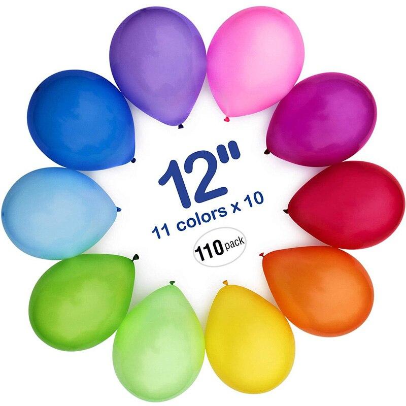 110pcs High Quality Latex Balloons 12 Inch Party Decoration Birthday Wedding Christmas Decor Ballon Toys For Children