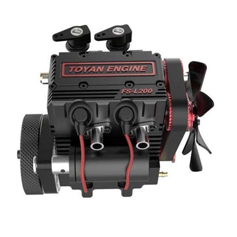 FS-L200 moteur bicylindre modèle moteur RC modèle moteur rouge modèle multi-modulaire Design high-tech cadeau d'anniversaire - 2