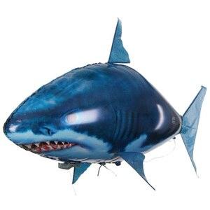 Image 2 - Pilot rekin zabawki powietrze pływanie ryby podczerwieni RC latające balony dekoracyjne Nemo Clown ryby dzieci zabawki prezenty strona dekoracji