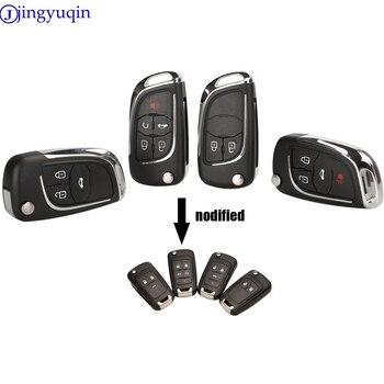 Jingyuqin изменение складной дистанционный ключ для автомобиля в виде ракушки Fob чехол для Chevrolet Cruze Эпика лова Camaro Impala на возраст 2, 3, 4, 5, кнопка HU100 крышка