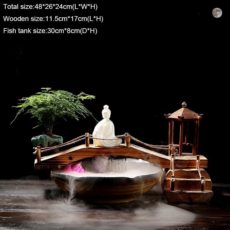 água tanque peixes cerâmica escritório sorte casa decoração