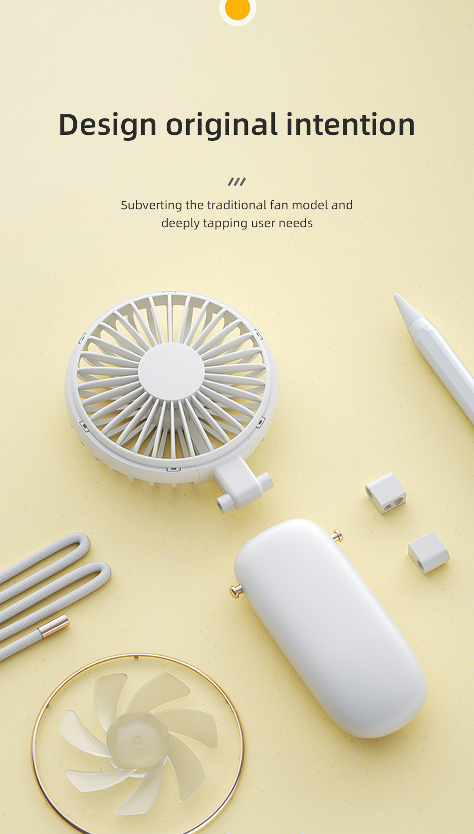 Benks F16 Mini USB Fans Mobile Handheld Fan Hanging Neck Lazy Outdoor Fan Air Cooler Rechargeable Foldable Desktop Office Fans (3)