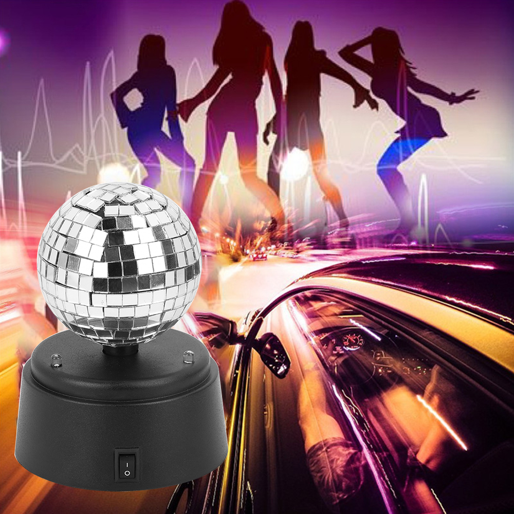 Mini Rotating Red Green Blue LED Stage Light Home Christmas Party DJ Disco Effect Light Crystal Magic Ball Strobe Stage Light