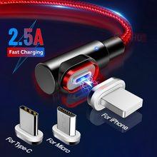 GETIHU 2.5A magnetyczny kabel Micro USB typu C szybka ładowarka magnes ładowarka przewód telefonu komórkowego dla iPhone 11 Pro Max 7 Xiaomi Redmi