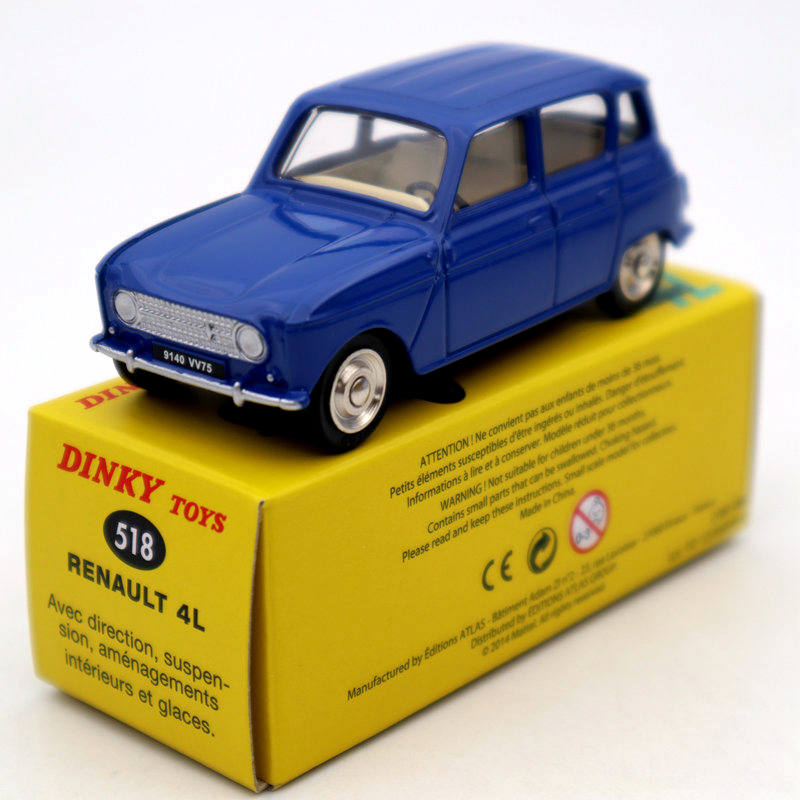 Atlas 1/43 Dinky Toys 518 Renault 4L Diecast Models Car Collection Auto Gift