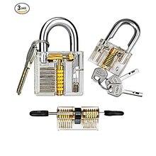 1 шт. прозрачный замок с ключом экстрактор Палочки Комбинации инструменты для слесаря комплект поставки Аппаратные средства