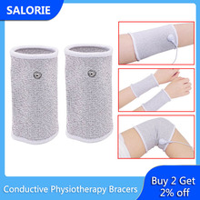 Conductive Fiber Electrode Bracers Massage Electrode Lead Wire Cable for Tens Unit Therapy Machine Pain Relief Body Relaxation