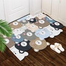 Tapete de pvc dos desenhos animados porta de entrada antiderrapante lavável sala de estar criança quarto banheiro tapete de cozinha tapete de boas-vindas