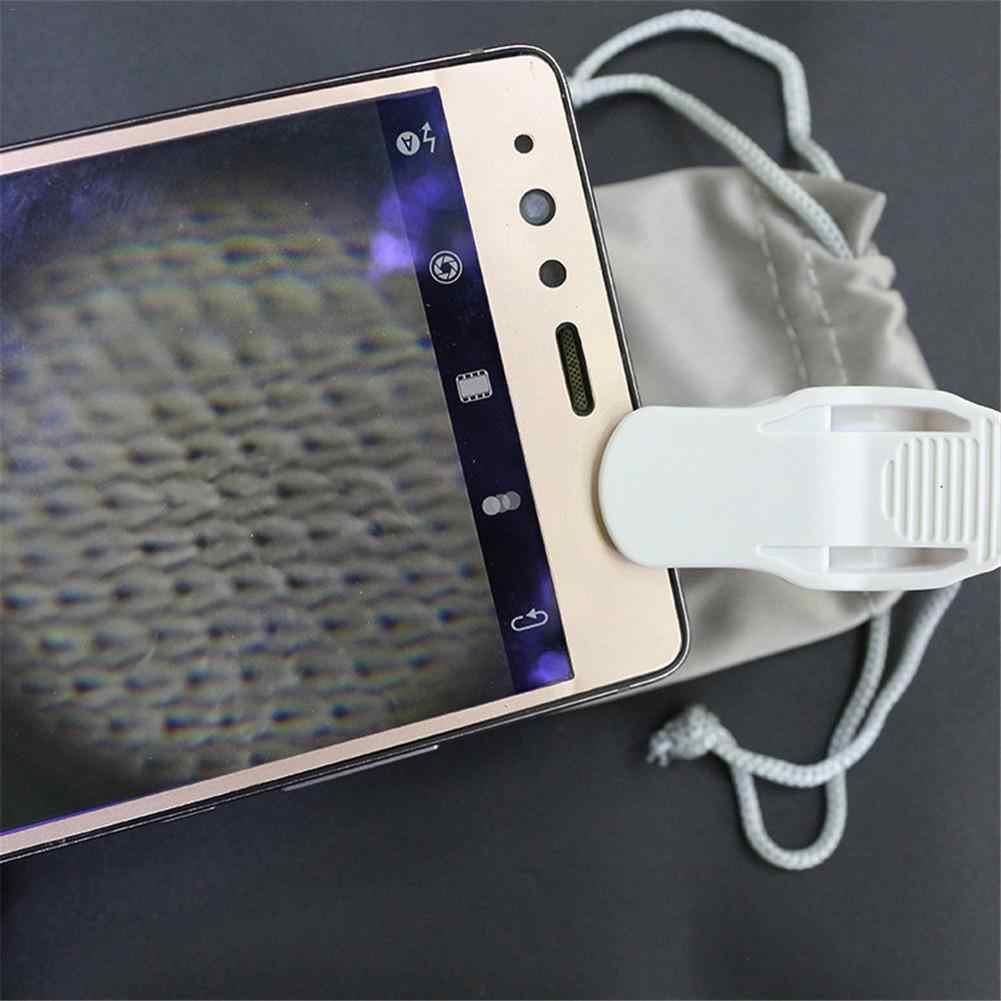 60X telefonu komórkowego mikroskop jubiler lupa klip typu mikroskop kieszonkowy