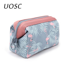 UOSC Sample Cosmetic Bag Women Waterproof Flamingo Makeup