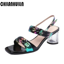 classic women sandals mixed color genuine leather summer shoes high heels ankle strap fashion sandals new arrived shoes women genuine leather cow leather sandals women wedges heels high sandals fashion summer shoes 2020 new female strappy wedding shoes