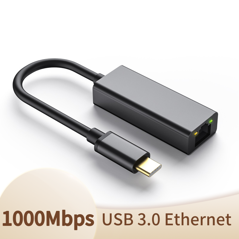 USB C Ethernet Adapter USB Type C To 10/100/1000M RJ45 Lan Adapter For MacBook Pro Huawei P30 USB C Network Card Converter