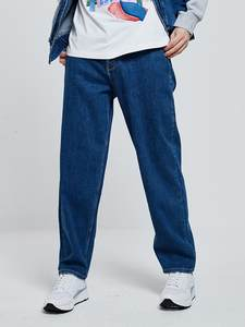 Fit Jeans Denim Pants Menswear Jackjones Men's Fashion Hiphop-Style Loose 219332535