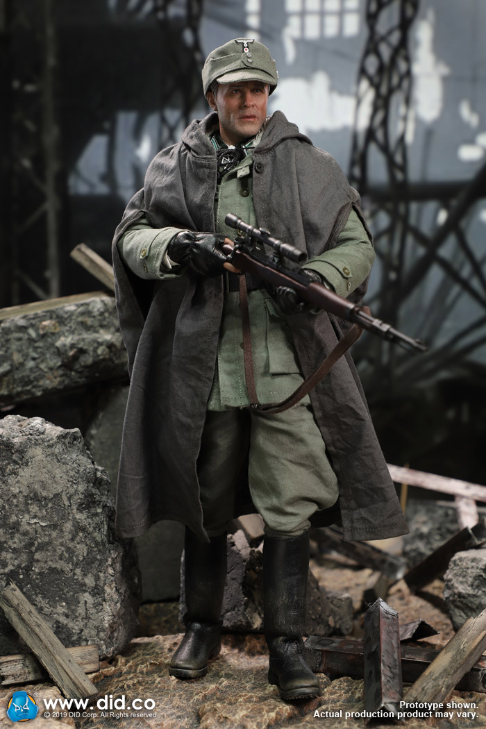 DID D80138 1//6 WWII Battle of Stalingrad 1942 Major Erwin Konig Coat Model