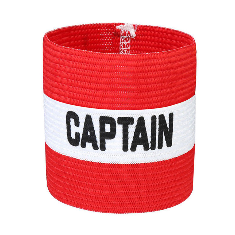 Outdoor Captain Armband Sports Sleeve Badge Conspicuous Leader Symbol Competition Strong Stickiness Football Rugby Hockey