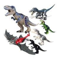 Tyrannosaurus rex MOC Raptor Triceratops Super Heavy Klaue Drachen Mini Jurassic Dinosaurier Bricks Bausteine Super Heroes spielzeug