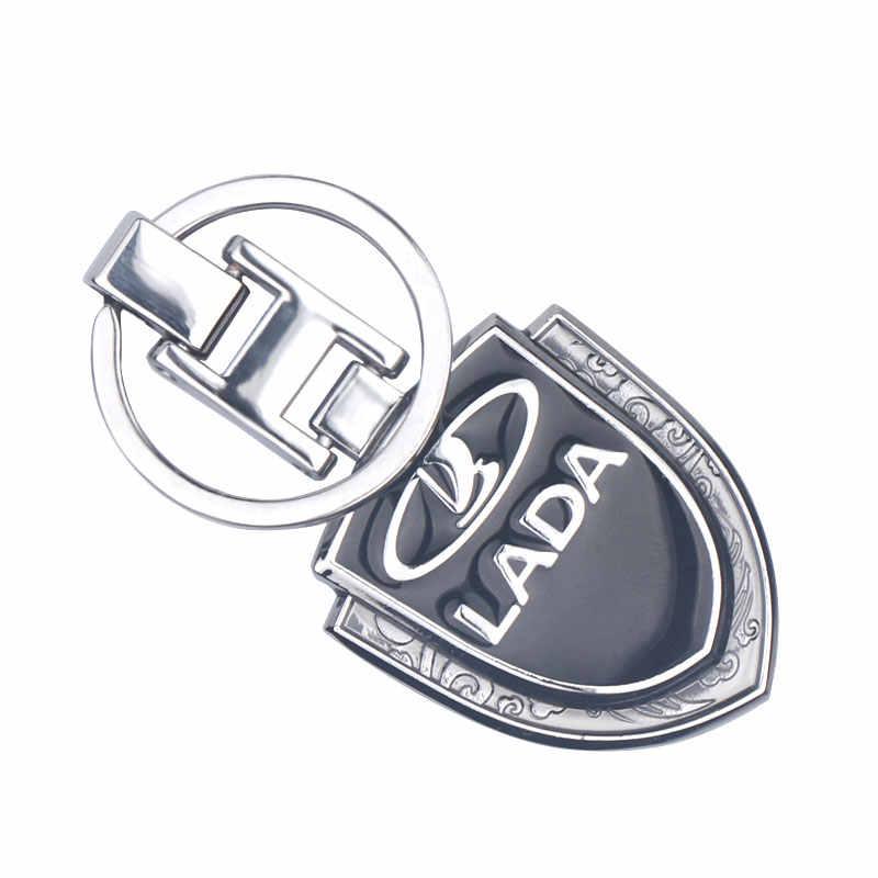 Xe ô tô-Tạo Kiểu Móc Khóa cho LADA Niva Kalina priora granta largus VAZ samara 2110 3D Kim Loại Xe Ô Tô Logo Móc Khóa chìa Khóa Phụ Kiện