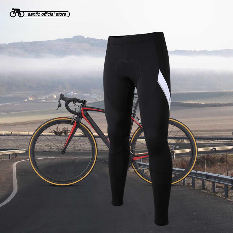 산티아고 남자 사이클링 바지 Windproof 계속 따뜻한 안티-필링 겨울 MTB 따뜻한 바지 아시아 크기