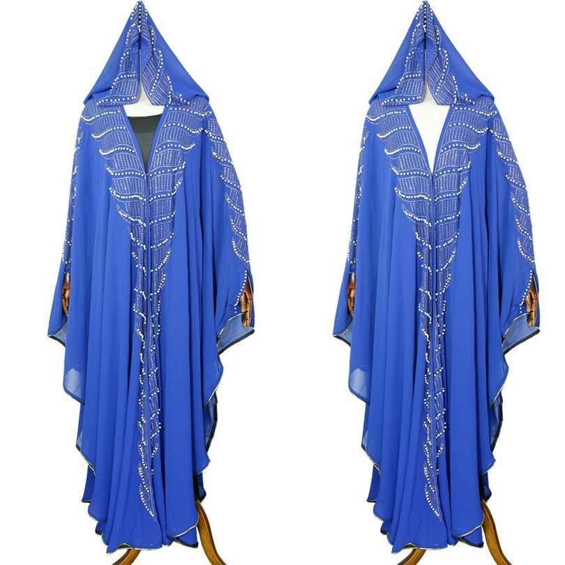 נשים אפריקאיות של ללבוש 2009 אמזון רקמת מסמרי פרל שיפון שמלת שמלת שמלה עם ביריות